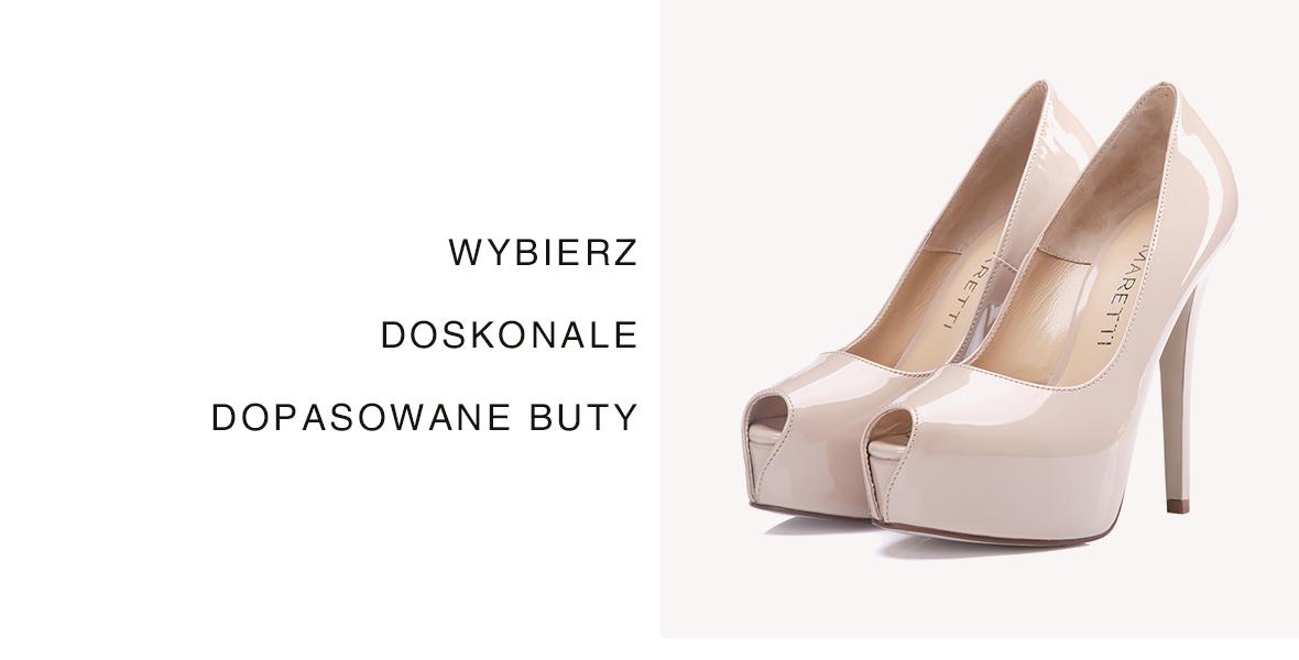 Małe rozmiary butów damskich - doskonałe czółenka na obcasie.